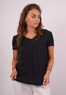 Vintage Armani Top Blouse Black