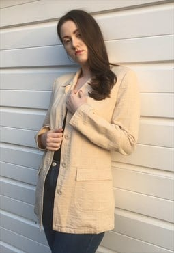 Womens Vintage Fendi coat beige blazer monogram jacket